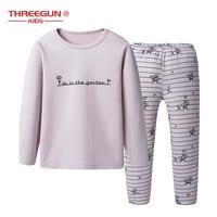 Girls Pajama Cartoon Print Pajamas Set Cotton Sleepwear Kids T Shirt+Pants 2pcs Homewear Boys Clothes Children Pijamas 3 14Years