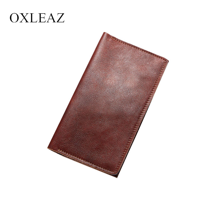OXLEAZ Long Vintage Passport Organizer Travel Wallet Passport Holder Cover Genuine Leather Men Card Holder Purse for WomenOXLEAZ Long Vintage Passport Organizer Travel Wallet Passport Holder Cover Genuine Leather Men Card Holder Purse for Women