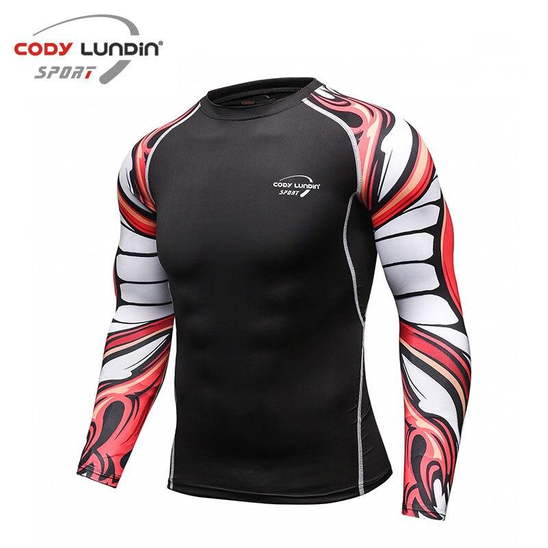 Коди Лундин Обучение Футболка с круглым вырезом и длинными рукавами плотный верхний быстро сухой дышащий Для мужчин спортивная одежда Фитнес Бег упражнения - 3