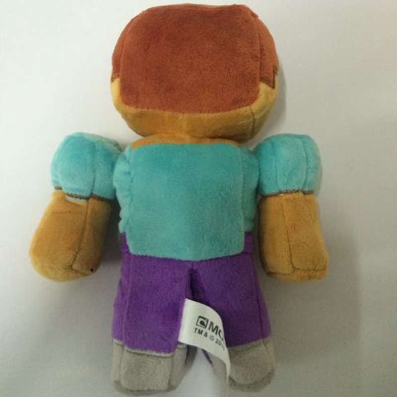 10pcs lot 18cm Brown Minecraft Steve Zombie Plush Toys Minecraft Steve Plush Doll Soft Stuffed Toys