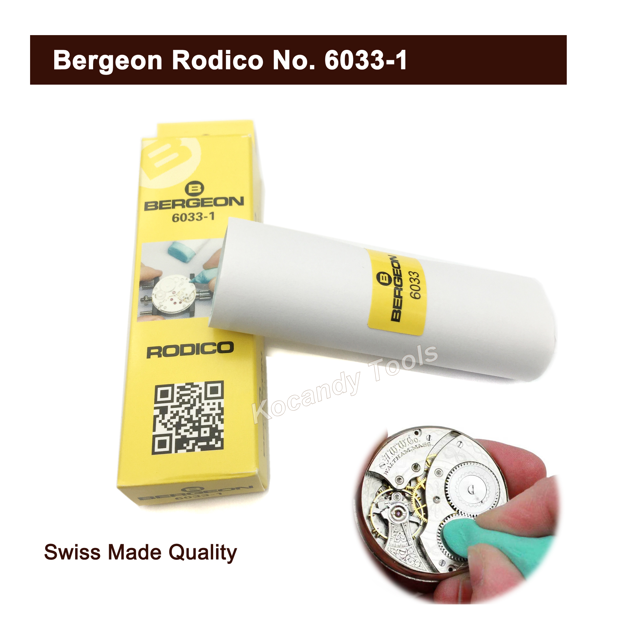 Bergeon Rodico 6033-1 Dry Cleaner Clean Parts Wheels Pivot Hand Tool & Removes Oil Watch Tool for Watchmaker Jewelers