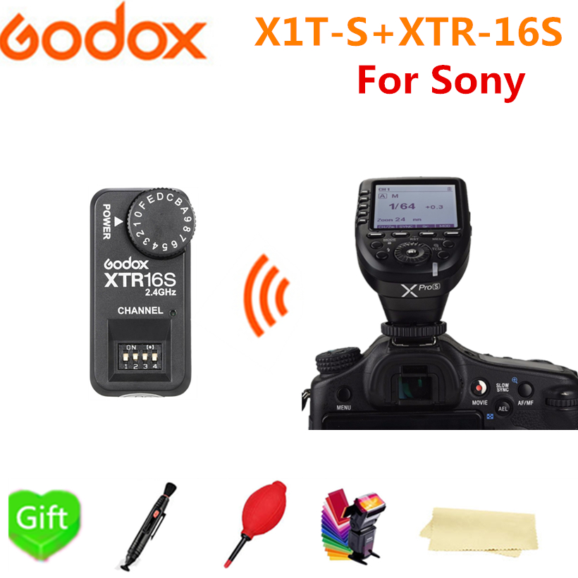 Здесь продается  Godox XPro-S Transmitter TTL HSS 2.4G Wireless X System LCD Screen + XTR-16S Receiver for Sony DSLR Godox V850IIS V860IIS  Бытовая электроника