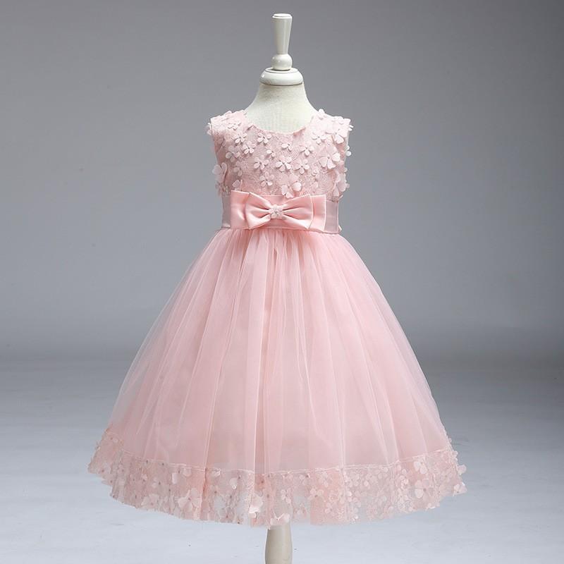 Kid Girl Party Dress Flower (11)