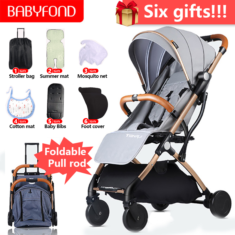 Original Super Light 6.9kg Baby Umbrella Stroller  Can Sit can Lie  Folding  baby stroller free Gifts free shipping