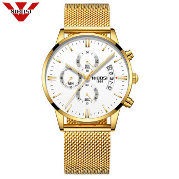 NOBOSI Top Luxury Brand Men Watch Waterproof Casual Man Watches Retro Relogio Masculino Luminous Steel Band Calendar Watch Mens