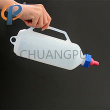 Food Grade PE Material 1.5L Feeding Milk Bottle for Lamb