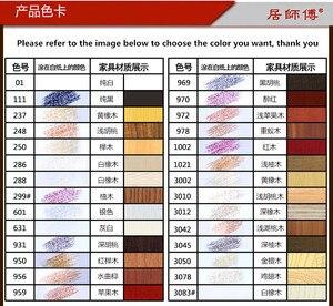 Image 3 - 14 pz/set mobili vernice riparazione riparazione del pavimento pavimento pastello a cera materiali di riparazione penna vernice zero cerotto legno composito