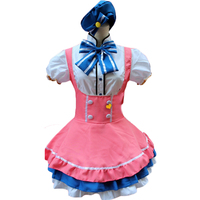 Minami Kotori Candy Maid Dress Cosplay Women's Sexy Pink Sailor Moon Costume Cosplay For Girl Halloween Game Stage Maid Costumes