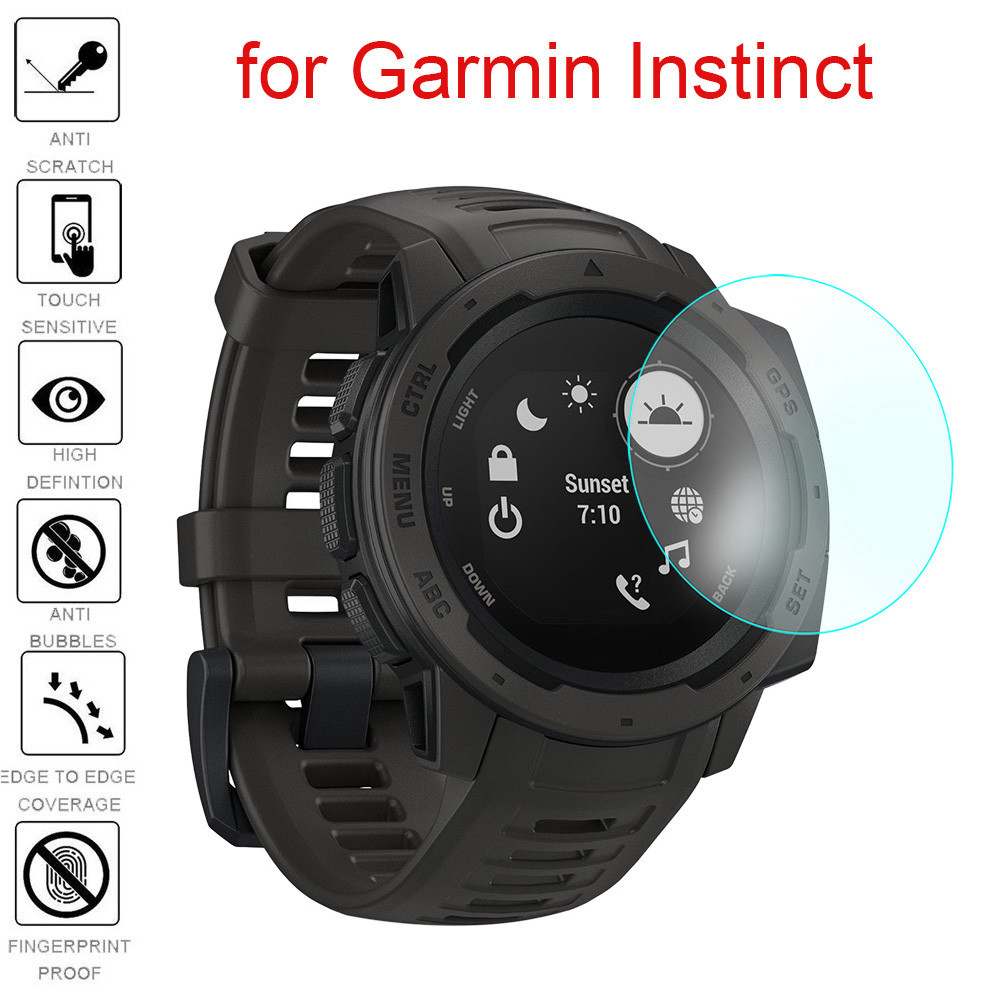 2019 New Ultra Clear Film Tempered Glass Screen Protector for Garmin Instinct wearable devices smartwatch relogios drop shopping new garmin watch 2019