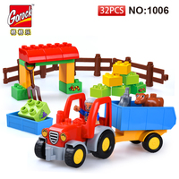 GOROCK 1006 Big Building Block Set Children Educational Bricks Toys 32Pcs For Birthday Gifts Toy For