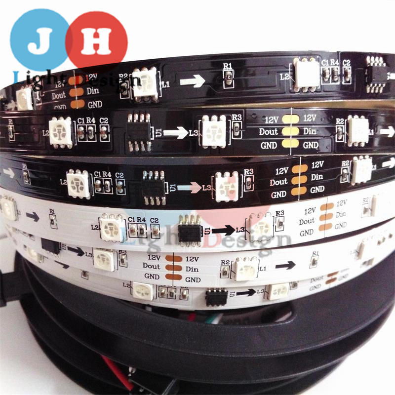 1M 12V WS2811 30pcs m 5050SMD Digital RGB Dream Color Pixel font b LED b font