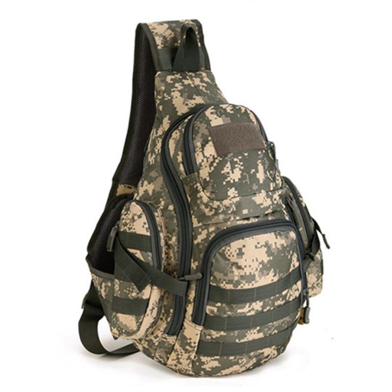 Outdoor Cambling Bag Camo Large Capacity Bag Tactics Chest Pack Hiking Camping Bag Man s Bag