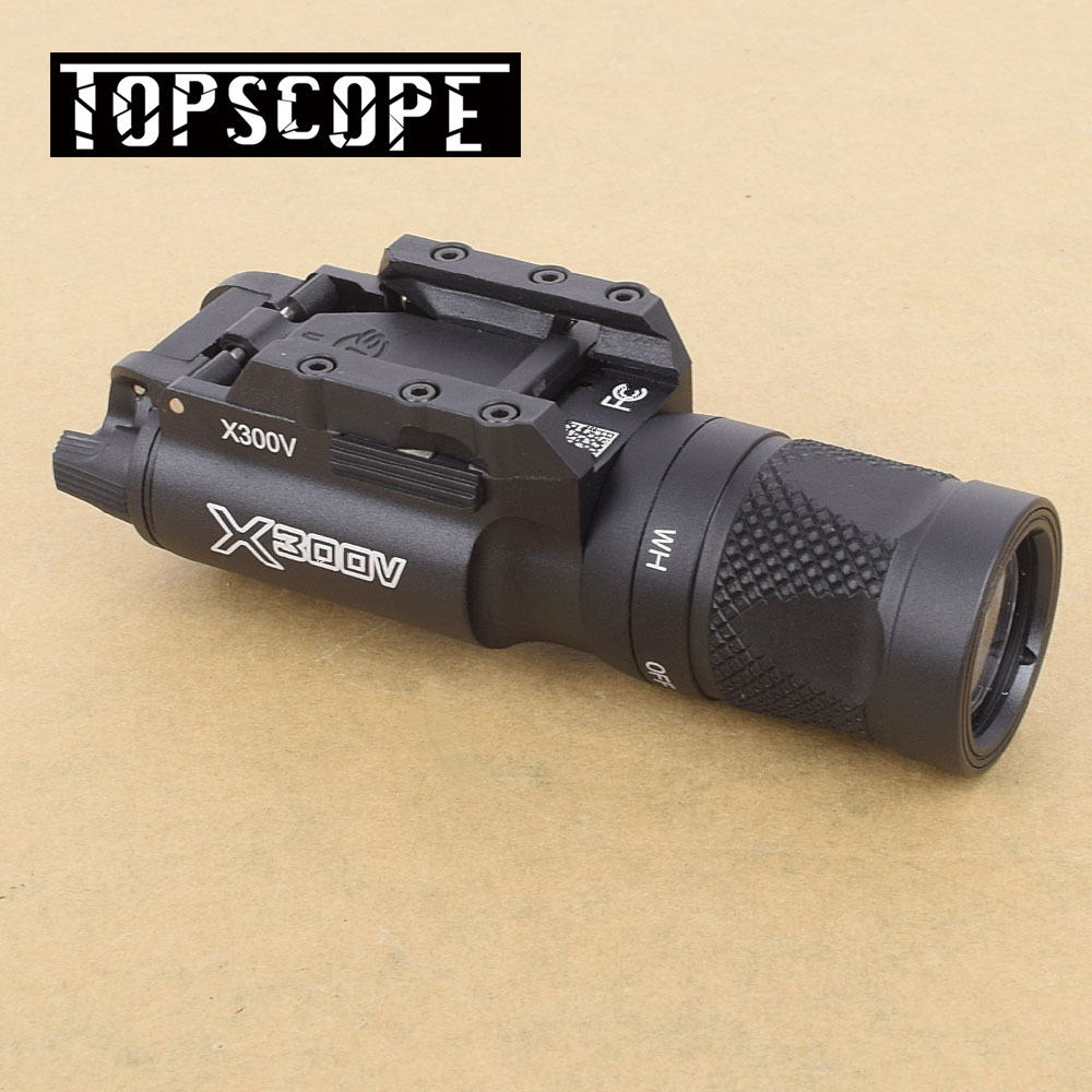 X300V Dynamitage Flash Fonction Ultra Haute Sortie 500 Lumens Lumière lampe de Poche Pistolet Pistolet Picatinny