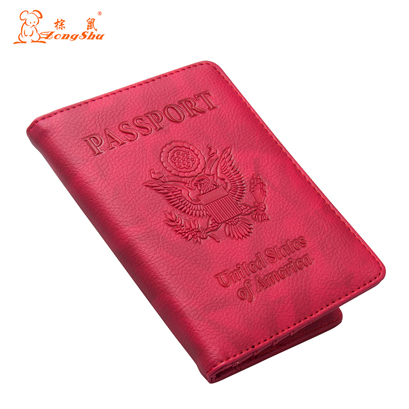 Back To Search Resultsluggage & Bags Russian Oil Double Eagle Red International Standard Size Passport Cover Built In Rfid Blocking Protect Personal Information