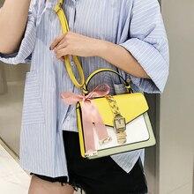 купить Scarf Crossbody Bags For Women 2019 High Quality PU Leather Famous Brand Luxury Handbag  Ladies Shoulder Bag Designer Sac A Main дешево