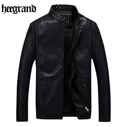 Hee grand 2017 new fashion pu leather jacket men solid mens faux fur coats fit youth.jpg 250x250