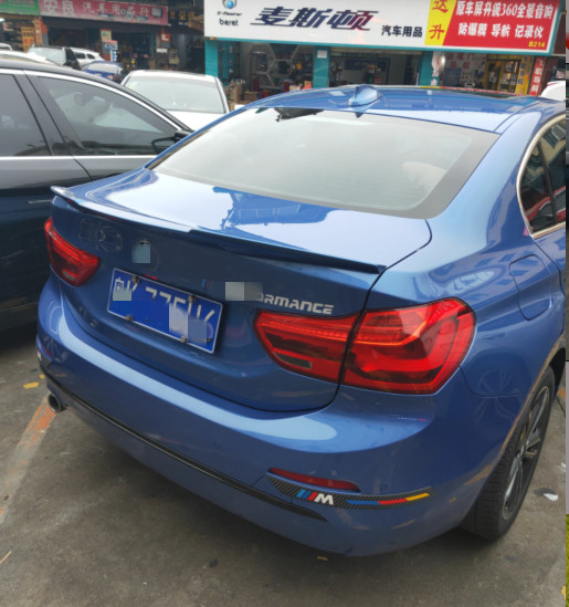 ABS Material Spoiler Wings For BMW 1 Series 118 Sedan M4 Style Primer and paint varnish black and white cloor in Spoilers Wings from Automobiles Motorcycles