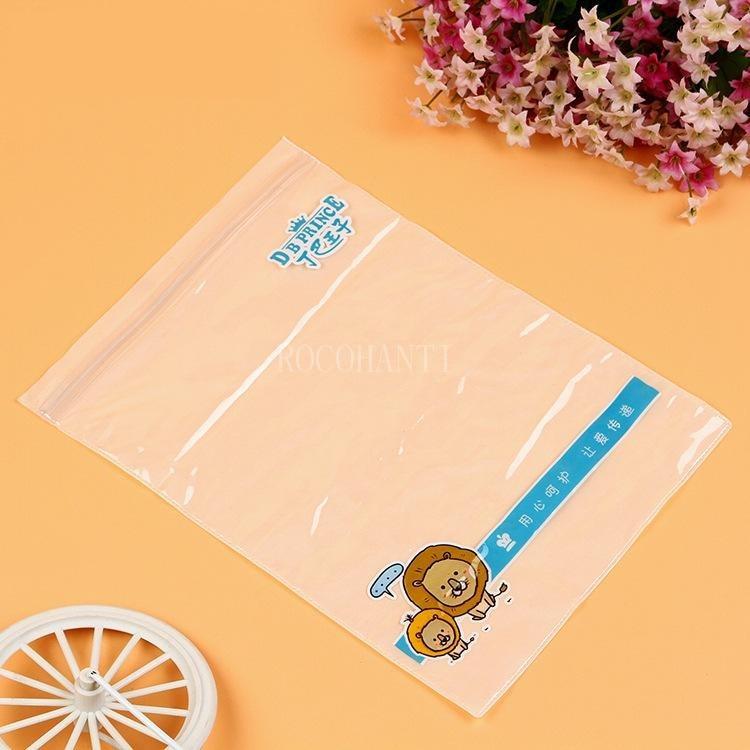 500 pçs personalizado transparente pvc saco impermeável