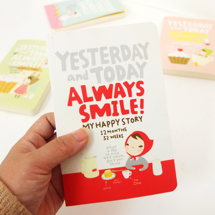 Lovely Cartoon Vintage Notebook Little Red Riding Hood Schedule Planner Note Book little red riding hood level 2 activity book