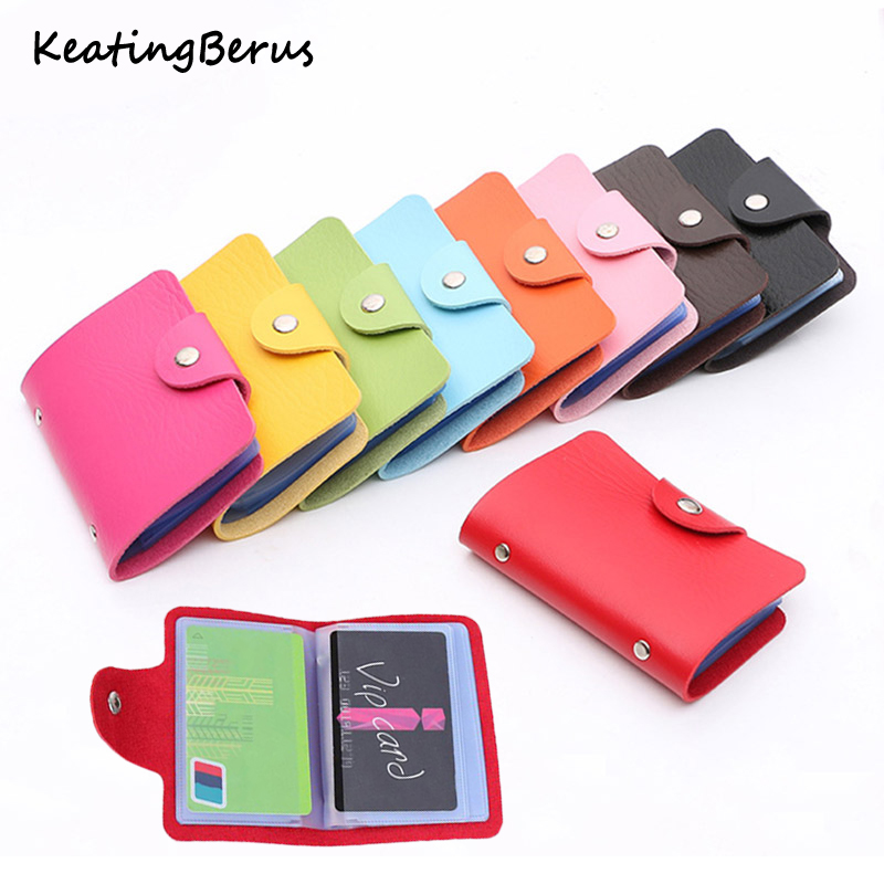 Hot Sale Men's Women's Card Case  Wallet Leather Visiting Handbags Credit Card Holder Business Package-in Card & ID Holders from Luggage & Bags on Aliexpress.com | Alibaba Group