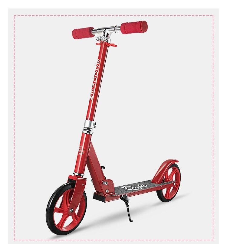 Adulte enfants kick scooter pliable PU 2 roues musculation tout en aluminium
