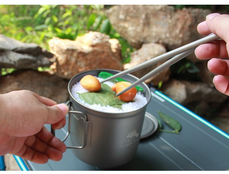 para acampamento ao ar livre caça esportes utensílios de mesa pot-1100