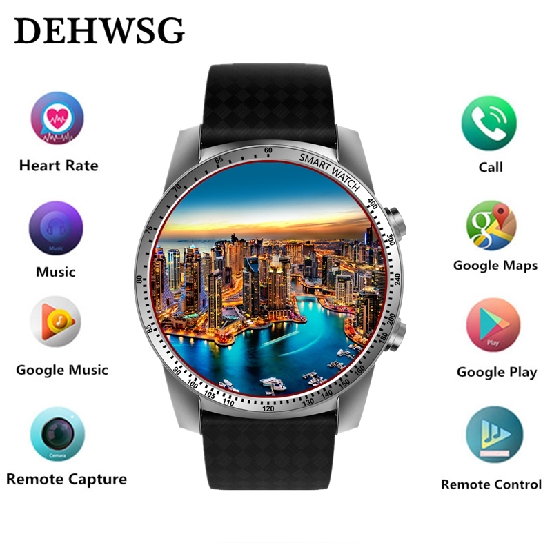 DEHWSG KW99 Smart Watch Android Phone MTK6580 3G WIFI GPS Watch Men Heart Rate Monitor Bluetooth Smartwatch For IOS Android