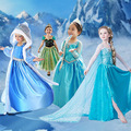 Vestidos de Festa de meninas Vestido de Princesa Elsa Vestido Des Neiges Reine Meninas Vestir Vestido De Festa Infantil Vestidos Elegantes Do Bebê
