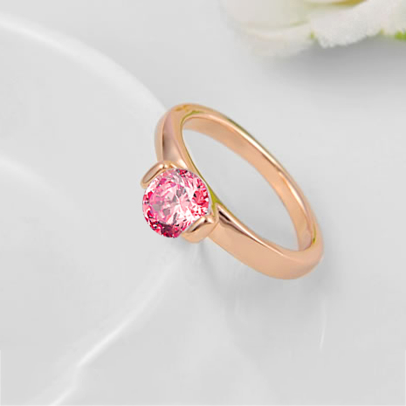 ring jewelry modern womens square stone bridal gold boldholic rings product pink