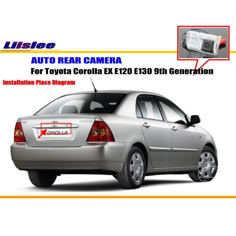 Liislee Rear View font b Camera b font For Toyota Corolla EX E120 E130 9th Generation