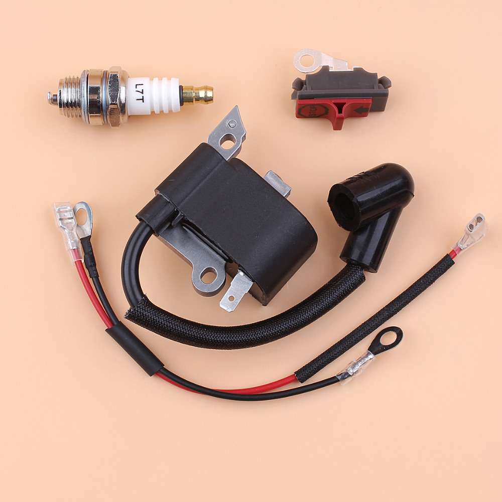 Recoil Starter Oil Pump Throttle Trigger Kill Switch Kit For Husqvarna 136 137 141 142 Chainsaw W/ Gaskets Bar Plate Rope Garden Tools Tools