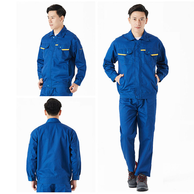 Men Women Work Clothes Workwear Sets Jacket Pants Auto Repair Working clothing Long Sleeve Wear-resistant Set Factory Uniforms  3