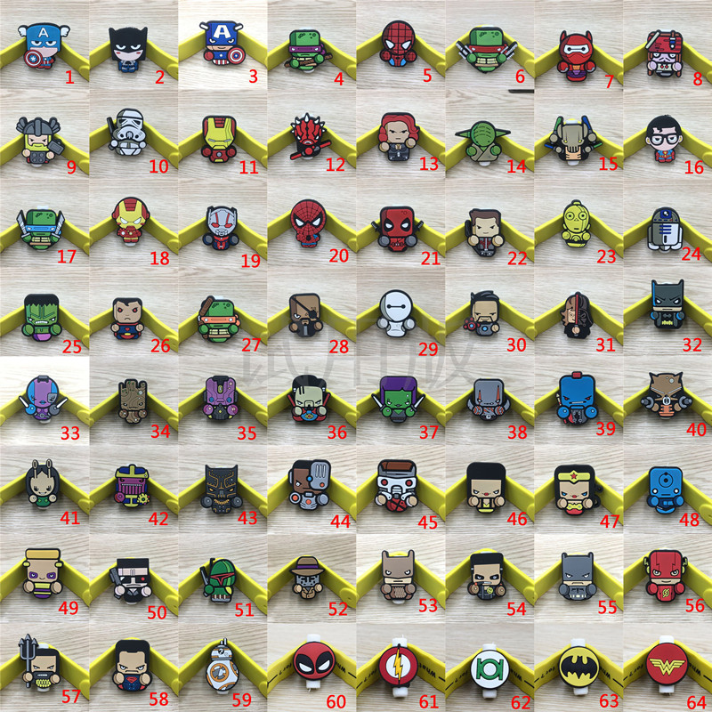 200pcs Cartoon USB Cable Protector Management Data Line Organizer Clip Protetor De Cabo Cable Winder For