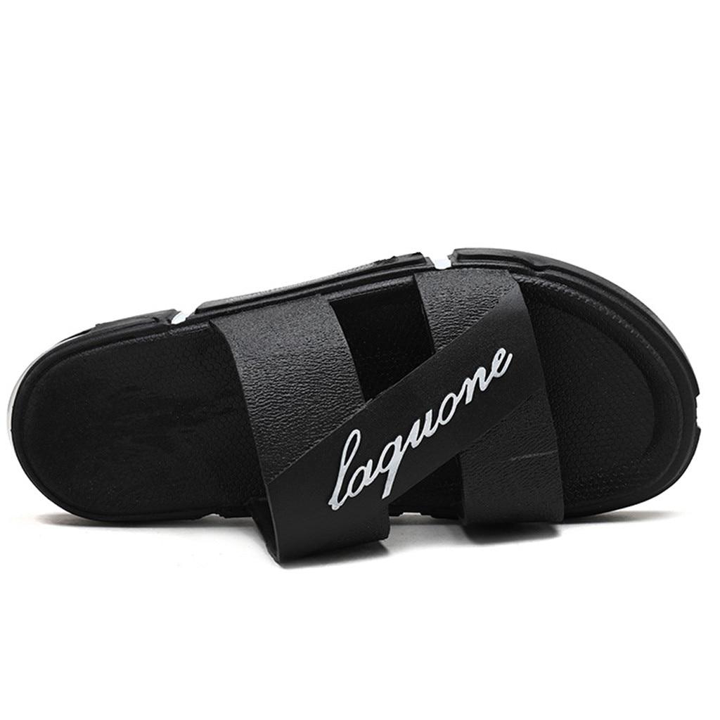 SAGACE мужские уличный тотем, Модные мужские повседневные однотонные Нескользящие пляжные тапочки, мягкие Нескользящие тапочки на воздушной подушке