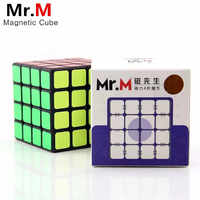 Shengshou sengso Mr.M 4x4x4 Magnetic Magic Cube Black Professional Magnets Puzzle Speed Cubes Educational Toys For Children