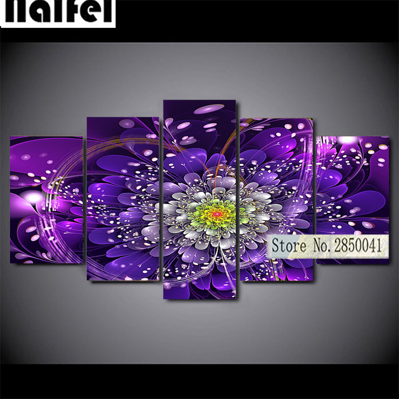 5pcs Diamond Painting 3D abstract blue flower Full Diamond Embroidery 5D DIY Cross Stitch Diamond Mosaic