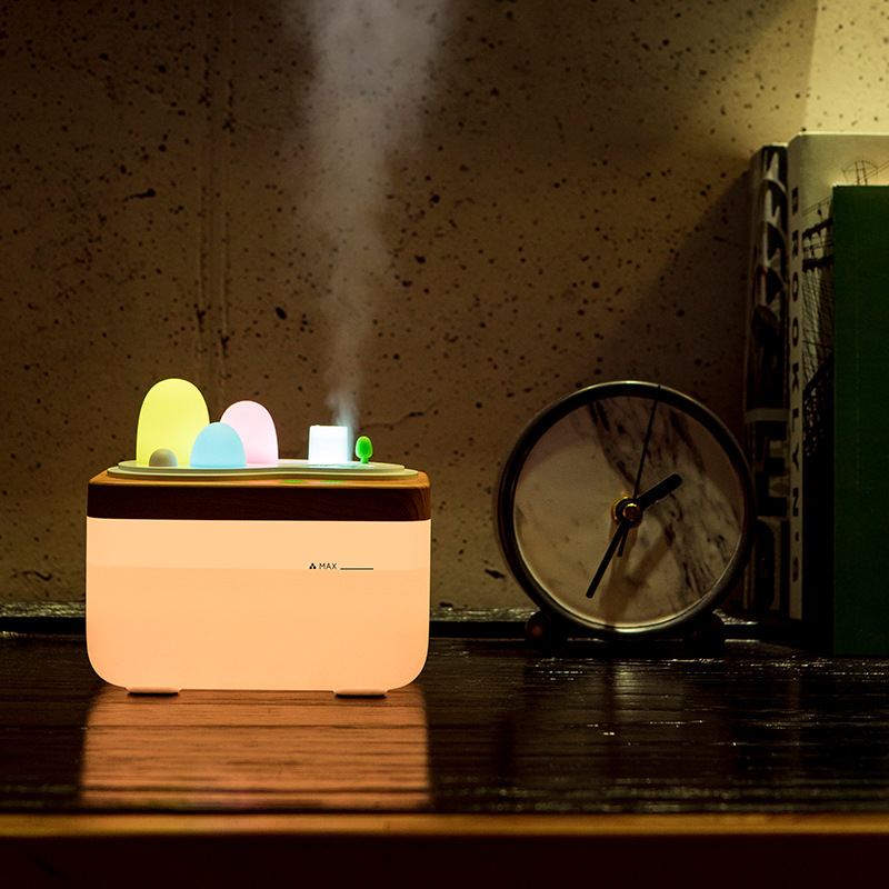 Creative garden aromatherapy machine night light office desktop humidifier large capacity remote control home hydration floor style humidifier home mute air conditioning bedroom high capacity wetness creative air aromatherapy machine fog volume