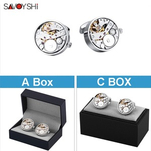 Image 5 - SAVOYSHI boutons de manchette pour montre mécanique, boutons de manchette, pour chemise, fonction, mécanisme, bijoux de marque de styliste