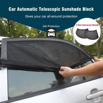 2 pçs/set Auto Car Toldo 100x52 cm Lado Mesh Janela Indiscreta Sun Sombra Visor Escudo Tampa Do Carro UV proteção Da Cortina Ajustável