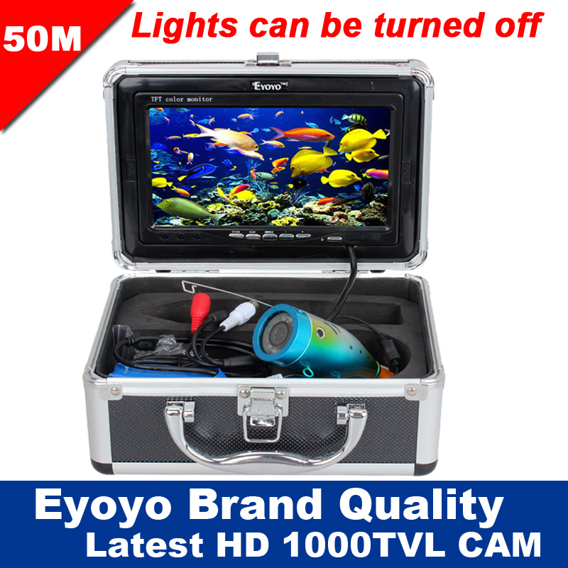 Eyoyo Original 50m Professional Fish Finder Underwater Fishing Video Camera 7 Color HD Monitor 1000TVL HD CAM Lights Control