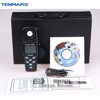 TENMARS TM-203 jest zmuszony skontaktować się zapisu danych Auto począwszy miernik światła tanie i dobre opinie Silicon photodiode and filter USB Interface 7000 Records