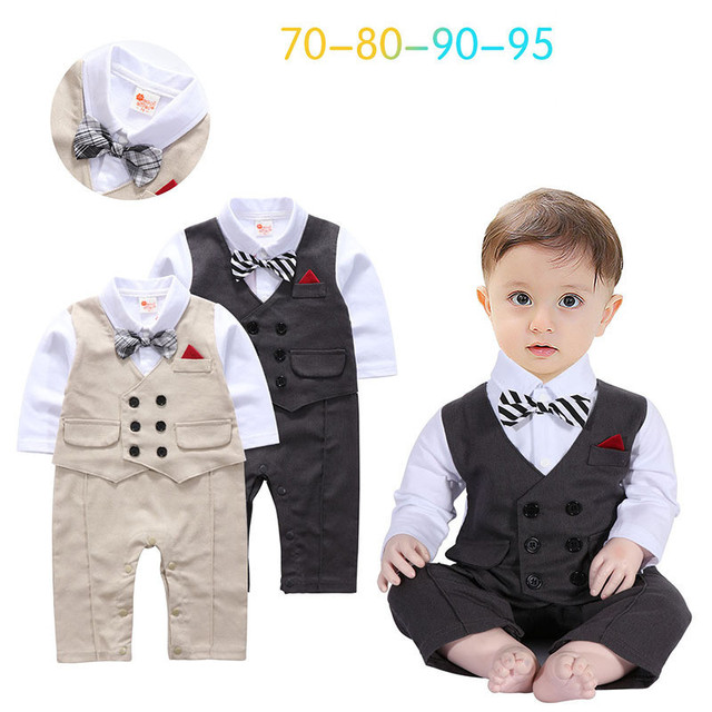7e8c96443250 Baby Boys Wedding Party Suits Gentlemen Clothing Sets Baby Boy Clothes  Infant Toddler Long Sleeve Bow