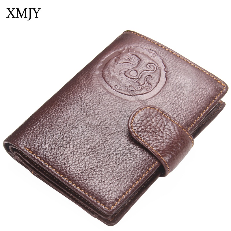 XMJY Genuine Leather Men Wallets Passport Holder Cow Leather Passport Cover Purse High Quality Credit&Id Multi function Wallet new pu leather passport cover protector fashion alligator embossing travel passport case men women id credit card holder wallet