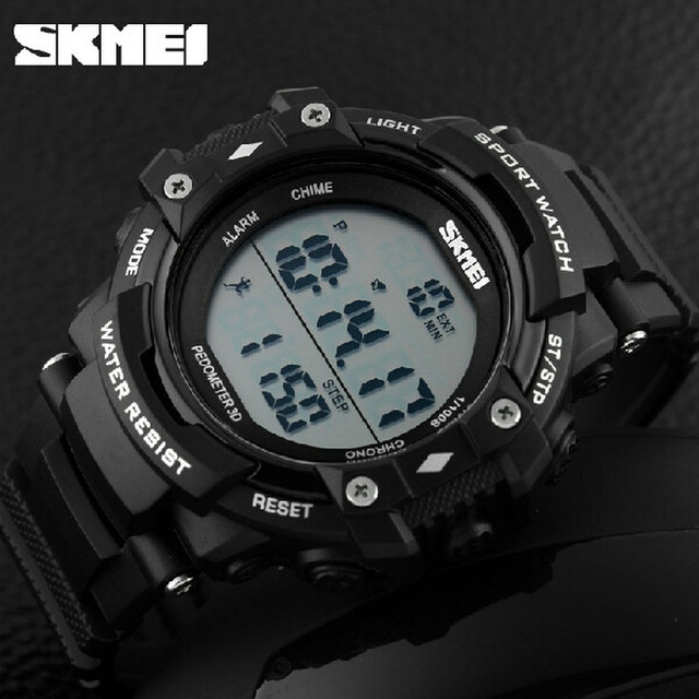 Skmei 1128 Sports Watch Pedometers Instruction In Digital Watches