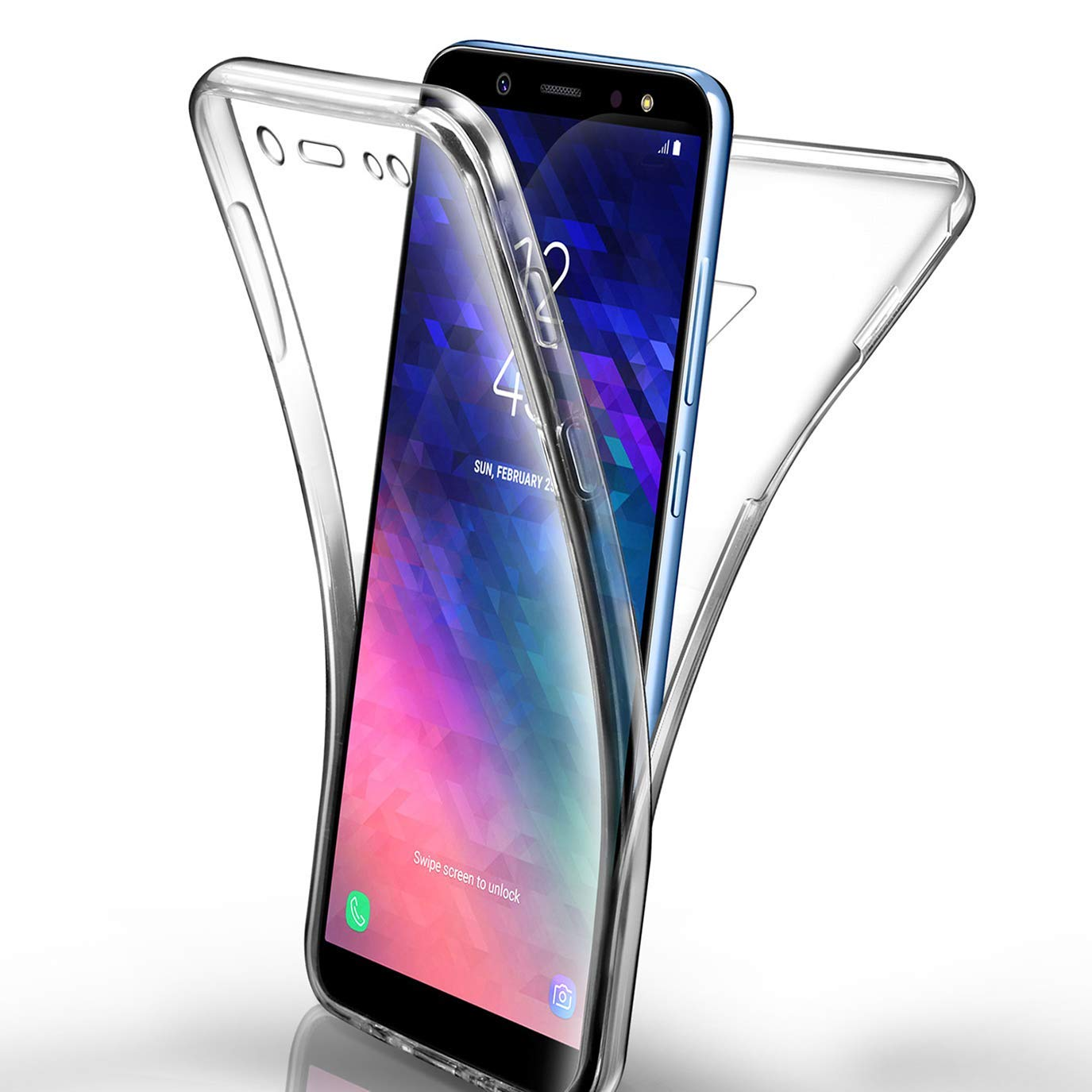 360 Cover Full Body Soft Case for Samsung galaxy S10 S8 S9 Plus S10e S7 s6 edge A7 A6 A8 2018 Plus Soft TPU Cover(China)