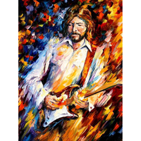 hand painted Modern Artwork of Landscape Palette knife thick Art Eric Clapton canvens Oil Painting Wall Decoration Fine Art