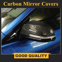 Para BMW F20 F22 F30 F35 F32 F34 Espelho Cobre Tampas F33 F34 X1 1 E84 Side Asa De Fibra De Carbono 2 3 4 series Substituir|Espelho e capas| |  -