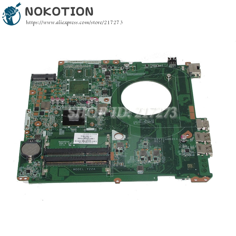цены на NOKOTION DAY22AMB6E0 763421-501 763421-001 Laptop motherboard For HP Pavilion 17 17-F Main Board A4-6210 CPU