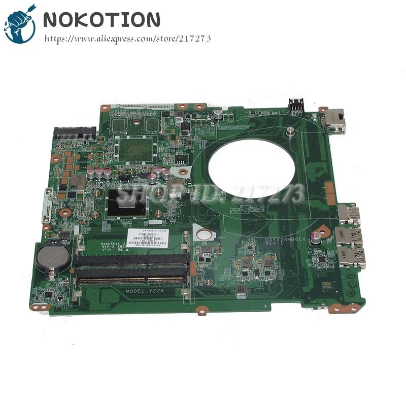 купить NOKOTION DAY22AMB6E0 763421-501 763421-001 Laptop motherboard For HP Pavilion 17 17-F Main Board A4-6210 CPU онлайн