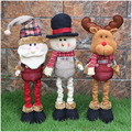 Christmas Gifts!!!3 Styles 62*16 cm Christmas Santa Claus Snowman Elk Plush Toys Ornament Home Decorations For Kids/lovers